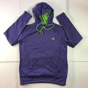 Adidas Women's Pullover Sweatshirt Hoodie (Large)